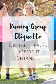 What is proper running group etiquette when dealing with different running paces and different distance goals? Find out on today's Running Coaches Corner! @suzlyfe http://suzlyfe.com/running-group-etiquette-different-paces-distances-coaches-corner-47/