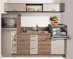 Miniküche Nr. 1 - preiswerte Singleküche - kleine Einbauküche - Küchen Geisler                                                                                                                                                                                 Mehr