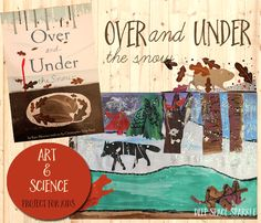 Over & Under Winter Habitat Art Project | Deep Space Sparkle