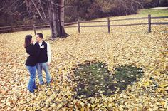 fall engagement photo shoot | Repinned via Stef Martin