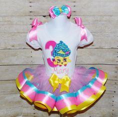 Shopkins Ribbon trim tutu set Shopkins birthday by MommaMays
