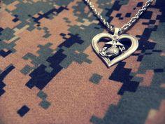 My Marine has my heart <3 I had this necklace