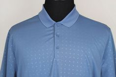 Nike Golf Dri-Fit Standard Fit Mens Short Sleeve Polo Shirt sz XL Light Blue #NikeGolf #PoloRugby