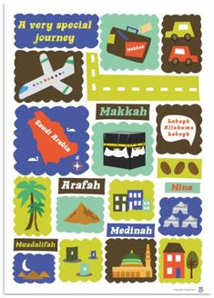 "hajj poster from Simply Islam  DO hajj week!! have the kids ""prepare to travel"""