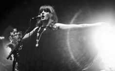 Florence Welch of Florence + the Machine - in her usual dramatic goodness.