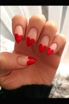 You are currently showing here the awesome result of your 10 DIY Heart Nail Art Designs. You can see here the ideas of 10 DIY Heart Nail Art Designs. Heart Nail Designs, Red Nail Designs, Almond Nails Designs, Nail Designs With Hearts, Heart Nail Art, Heart Nails, Nagel Hacks, Super Nails, Nail Tips