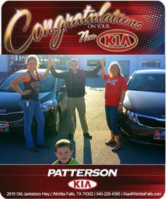 Congratulations Laci Vestal on your New KIA Forte and Serina Vestal on your New KIA Optima! - From Brandon Warton at Patterson Kia