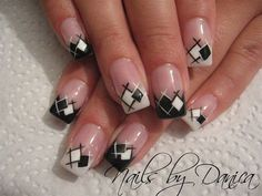 black and white nail art - 60 Examples of Black and White Nail Art