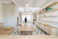 Completed in 2019 in Praga, Czech Republic. Images by Studio Flusser. Living in an own historic but individually reconstructed house with a garden just several steps away from an underground station is a dream that can. Mini Clubman, Insulation Cladding, Three Story House, Villa, Create A Family, Home Upgrades, Style Tile, Living Styles, Kitchen Cabinetry