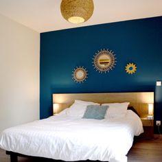 Une chambre bleu - Emilie PEYRILLE - Architecture - Couleur - Paysagisme