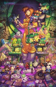 Teenage Mutant Ninja Turtles Retro Tribute Final by RobDuenas on DeviantArt Ninja Turtles Art, Teenage Mutant Ninja Turtles, Teenage Ninja, Shredder Tmnt, Ninja Turtle Birthday, Turtle Party, Manga, Dragon Ball Z, Comic Art