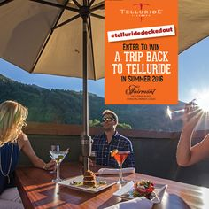 Get Decked Out! Show us your best photo enjoying one of Telluride's spectacular decks and be entered to win a trip back to Telluride next summer. Lodging provided by Fairmont Heritage Place, Franz Klammer Lodge. Enter at https://www.facebook.com/VisitTelluride?v=app_448952861833126&rest=1 #TellurideDeckedOut