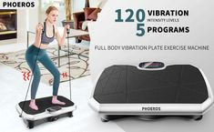 """""""Features Highlight"""" PHOEROS Vibration Plate Exercise Machine - Whole Body Power Shake Vibration Platform w/Loop Bands- Home Fitness Training Gym Workout Equipment for Weight Loss,Shaping,Toning & Wellness, 120 Levels #ExerciseandFitness #VibrationPlatformMachines #PHOEROSVibrationPlateExerciseMachine #PHOEROS #VibrationPlateExerciseMachine #ExerciseMachine #WeightLoss Exercise Machine, Workout Machines, Gym Workouts, At Home Workouts, Workout Equipment, Shake, Highlight, Bands, Platform"""