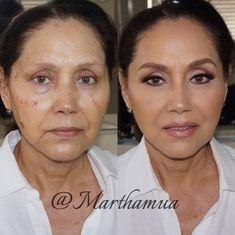 The Power of Makeup: Beautiful Before-and-After Makeup Transformations martha mua 2 – Das schönste Make-up Makeup For Older Women, Makeup For Moms, Older Woman Makeup, Makeup For Mature Skin, Mother Of Bride Makeup, Make Up Brush, Skin Makeup, Glam Makeup, Makeup Art