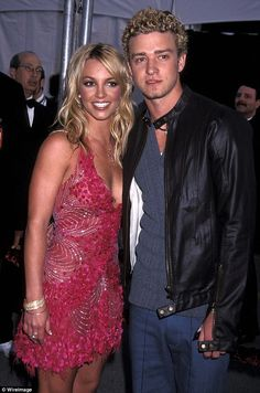 Old days: The couple dated from 1999 to 2002; here they are at the 29th American Music Awards in 2002