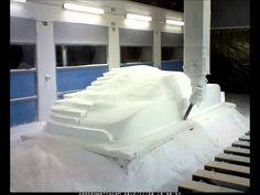 CNC polystyrene car