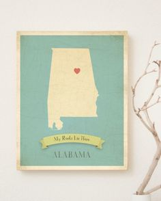 My Roots Collection Alabama Map Children Inspire Design