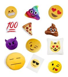"""""""Emoji pillows!!!!!!!!!"""" by sawyersimmons on Polyvore featuring interior, interiors, interior design, home, home decor, interior decorating, Throwboy and Levtex"""