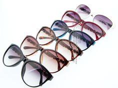 Only $6.89 , AEVOGUE Cat Eye Brand Vintage Sunglasses Women Eyewear Sun Glasses Chain Temple Leather Trimmings UV400 AE0138 Vintage Sunglasses, Sunglasses Women, Stylish Glasses For Women, Cat Eye, Eyewear, Temple, Chain, Leather, Eyeglasses
