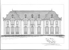 Ted Dial's drawing for Calif. vineyard home