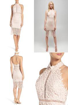 Bardot Gemma Halter Lace Sheath Dress Women S Fashion Formal Dresses Wedding Guest