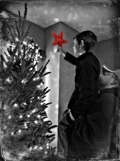 "Christmas Traditions I love this one, we still do it...but not sure how we now lift the 5'6"" 128# child?!?!?"