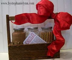 This site has LOTS of ideas for gifts in a jar.