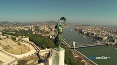 A drone's-eye view of Budapest.