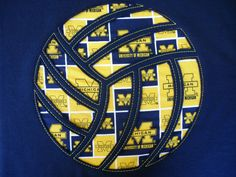 Vollelyball Gift, Coach Gift, Volleyball Hoodie, Volleyball Mom, Navy Blue Volleyball Hoodie U of M fabric on Etsy, $35.00