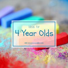 Simple play-based ideas for 4-year-olds that include crafts, process art, themes, and easy activities. #abcjesuslovesme #preschool #preschoolactivities #preschoolideas  #prek