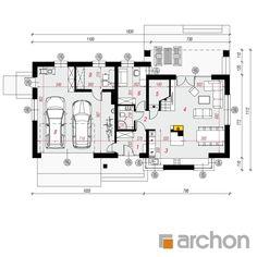 Dom w skrzydłokwiatach 2 Construction Design, Floor Plans, Gallery, Roof Rack, Floor Plan Drawing, House Floor Plans