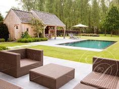 Zwembad + poolhouse