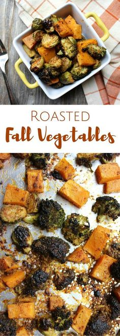 Crispy, oven Roasted Fall Vegetables are coated in all the best savory fall flavors. They're going to be your new favorite healthy autumn side dish! (Paleo, gluten free, vegan)