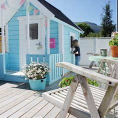 An Incredible DIY Play Shed For Girls First of all I have to say how incredible this little shed is! I adore the colour ^_^ I am very tempted to keep a picture of this in my planner to remind me that when I move into my dream home, the shed needs to be painted …