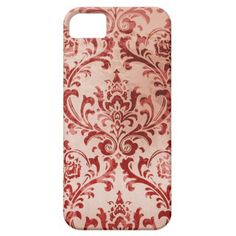 Faded Red Damask iPhone 5 Case