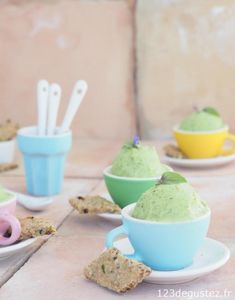 Make Ice Cream, Vegan Ice Cream, Homemade Ice Cream, Biscuits Aux Fruits, Sorbets, Veggie Recipes, Entrees, Veggies, Cooking