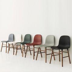 Normann Copenhagen Form Chair - Walnut   Houseology