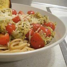 Smoked Salmon Pesto Pasta Recipe  skipped mushrooms added beach asparagus