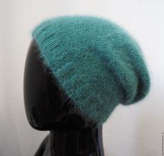 Купить Шапка-бини из ангоры - шапочка из ангоры, шапка ангора, ангорка, шапка вязаная