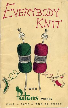 Vintage Patons ad: Everybody Knit!
