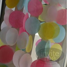 inviteme scrumptious stationery - buntings + garlands - Tissue Paper Garland Candy Buttons 15.96