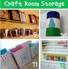 12 craft room storage ideas with before and after pictures that will help you design the craft room of your dreams! Craft Room 1. There are so many craft room organizational ideas from It's Me, Sarah. 2. Check out Sky Angel's sewing room with pegboard organizers. 3. Kristen used a shelf partion to make 2 separate work stations and create extra storage. 4. Dog Named Bango has a 5 Part post on her hanging craft room storage. Crafting DIY Containers 5. Crafty Nest used an old spice ...