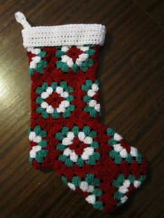 Spent my day off making a Christmas stocking alt= Christmas Stocking Stand, Crochet Christmas Stocking Pattern, Crochet Stocking, Crochet Christmas Decorations, Crochet Decoration, Holiday Crochet, Christmas Sewing, Crochet Gifts, Crochet Yarn