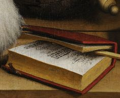 File:Detail - Arithmetic Book - from  Han's Holbein's The Ambassadors 1533. detail