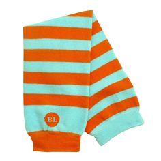 Orange/Aqua Legwarmers