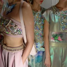 M∙A∙C Backstage at Manish Arora, SS15 Paris Fashion Week