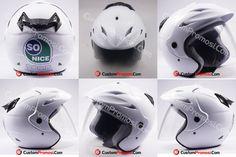 Helm Promosi So Nice untuk PT So Good Food. Sudah tidak asing lagi bagi kita dengan produk yang mereka produksi. Helm bisa dijadikan sarana untuk promosi ke masyarakat luas.