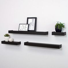 Floating shelves are so neat.
