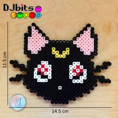 Luna Cat Sailor Moon Magnet from Perler Beads by DJbits on Etsy, $5.00