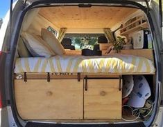 Camper van interior design and organization ideas (39)